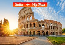 Vé máy bay từ Italia về Việt Nam giá rẻ
