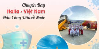 Vé máy bay từ Italia về Việt Nam