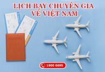 Lịch bay Quốc tế về Việt Nam tháng 3 và tháng 4/2021