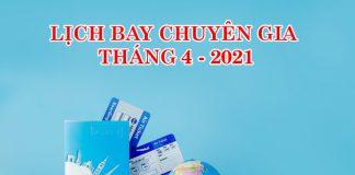 Lịch bay các chuyến bay đặc biệt từ quốc tế về Việt Nam tháng 4/2021
