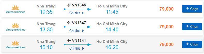 Vé máy Bay Nha Trang Hồ Chí Minh
