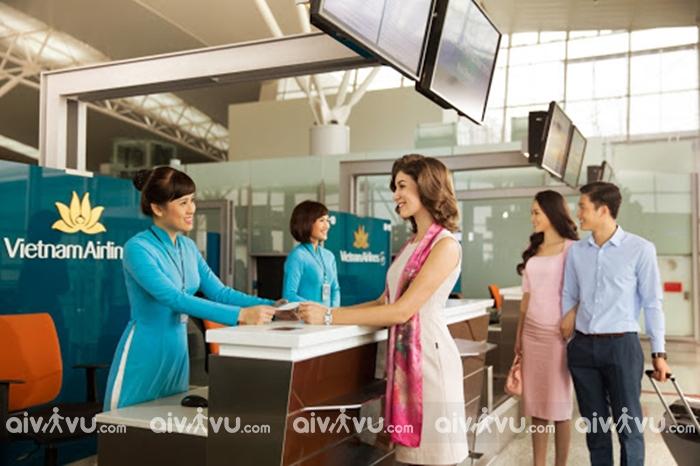 Quầy check-in, cửa ra máy bay riêng biệt