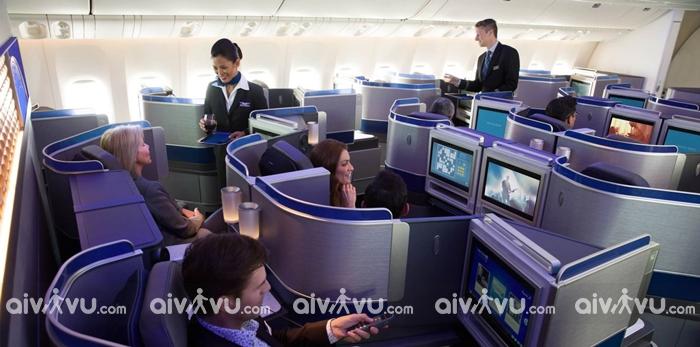 Thông tin hạng ghế United Airlines khai thác