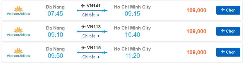 Vé máy bay Đà Nẵng – Sài Gòn