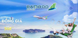 Mừng 8/3 Bamboo Airways khuyến mãi đồng giá chỉ từ 36.000 VND/ chiều