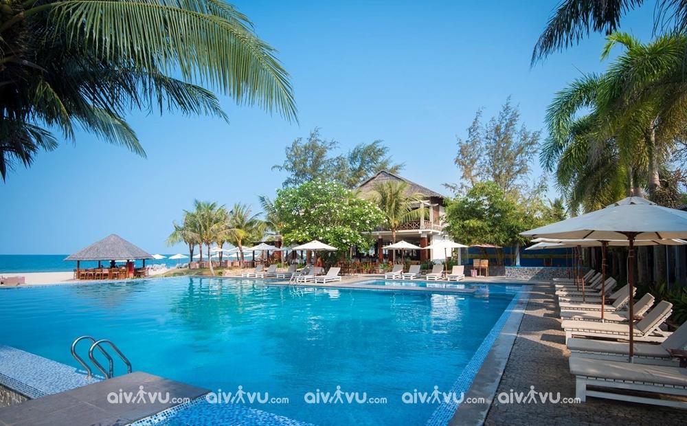 Bể bơi ngoài trời tại Eden Resort Phú Quốc