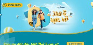 Vietnam Airlines khuyến mãi chỉ 488.000 VND thứ 5 rực rỡ