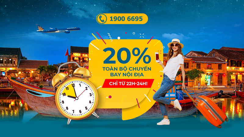 Vietnam Airlines khuyến mãi giảm đến 20% giá vé máy bay nội địa
