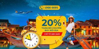 Khuyến mãi giảm 20% giá vé máy bay từ Vietnam Airlines