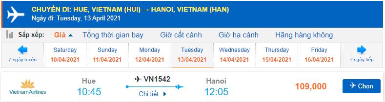 Vé máy bay Huế - Hà Nội