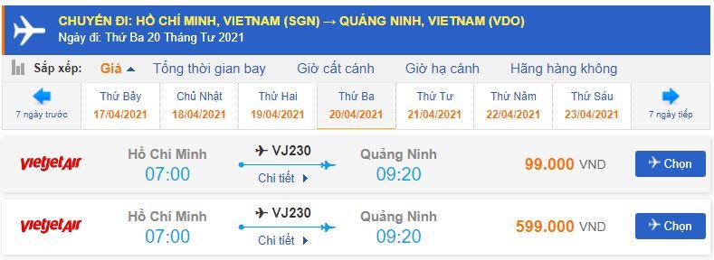 Vé máy bay đi Vân Đồn Vietjet Air