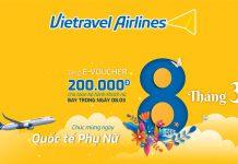 Mừng 8/3 Vietravel Airlines khuyến mãi 80.000 vé máy bay giá chỉ từ 8.000 VND