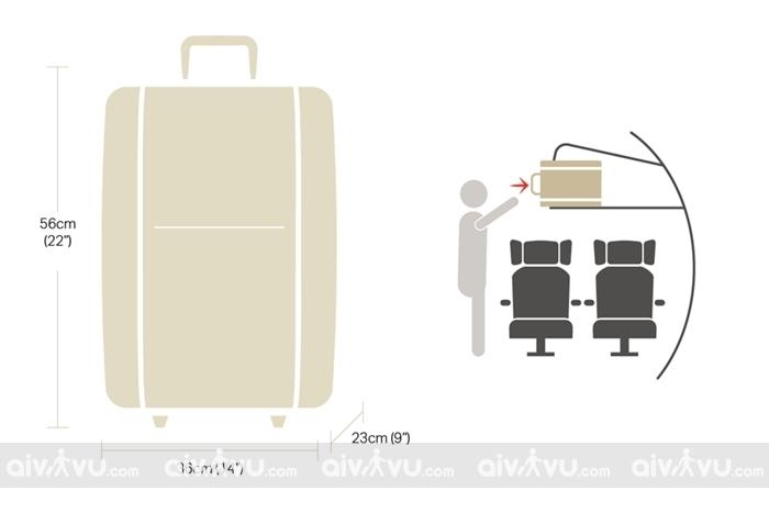 Kích thước hành lý xách tay Turkish Airlines mới nhất