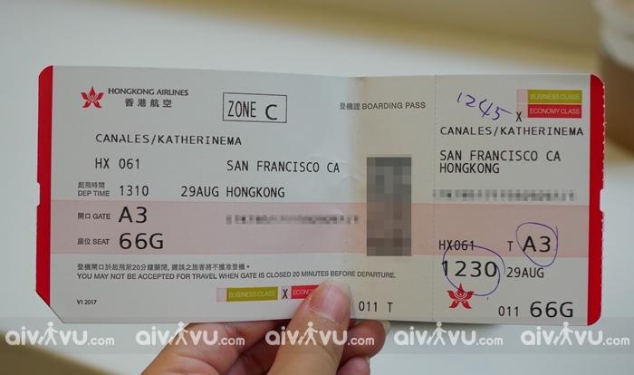 Phí hoàn đổi vé máy bay Hongkong Airlines bao nhiêu tiền?