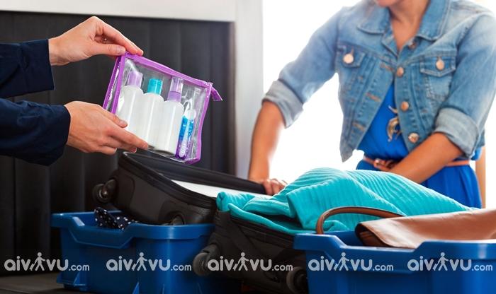 Quy định vận chuyển chất lỏng trong hành lý xách tay