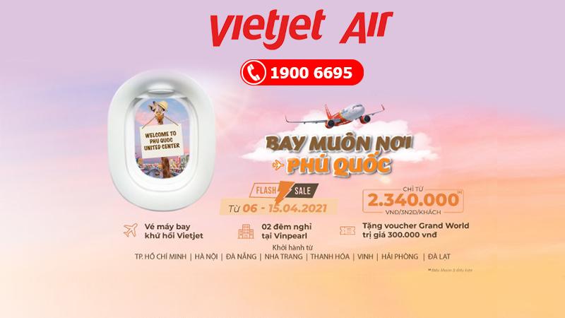 Vietjet mở 5 đường bay đến Phú Quốc combo trọn gói chỉ 2.340.000 VND
