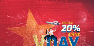 Vietravel Airlines khuyến mãi giảm 20% giá vé mừng đại lễ 30/04 – 01/05