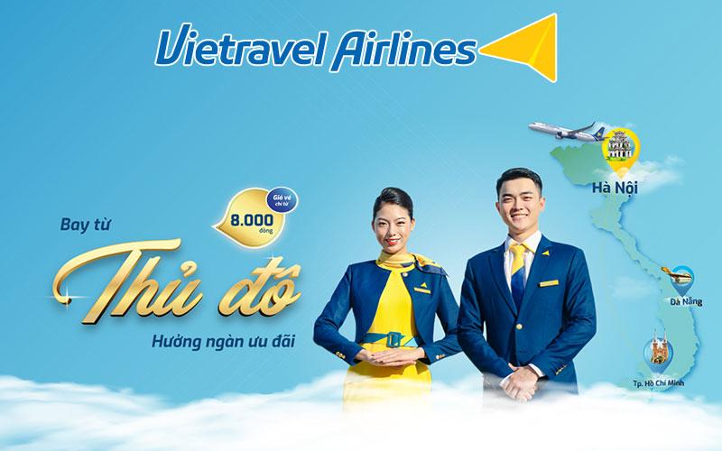 Vietravel Airlines khuyến mãi chỉ từ 8.000 VND kích cầu du lịch 2021