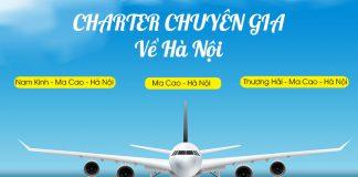 Mở bán chuyến bay Charter từ Trung Quốc về Hà Nội thứ 4 hàng tuần