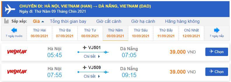 Vé máy bay giá rẻ đi Đà Nẵng Vietjet Air tháng 9
