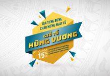 Mừng lễ Giỗ Tổ Hùng Vương Vietnam Airlines giảm 15% giá vé