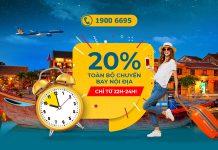 Khuyến mãi Mid – Night Sales giảm đến 20% giá vé nội địa Vietnam Airlines
