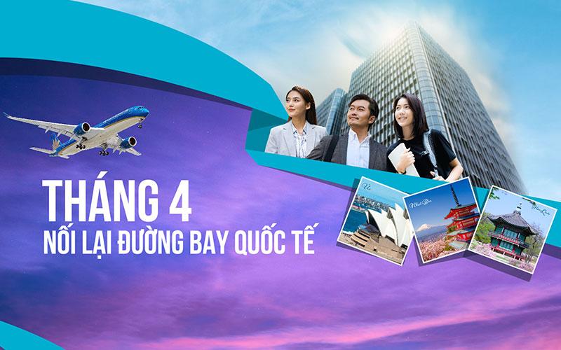 Vietnam Airlines khai thác trở lại chuyến bay quốc tế từ ngày 01/04/2021