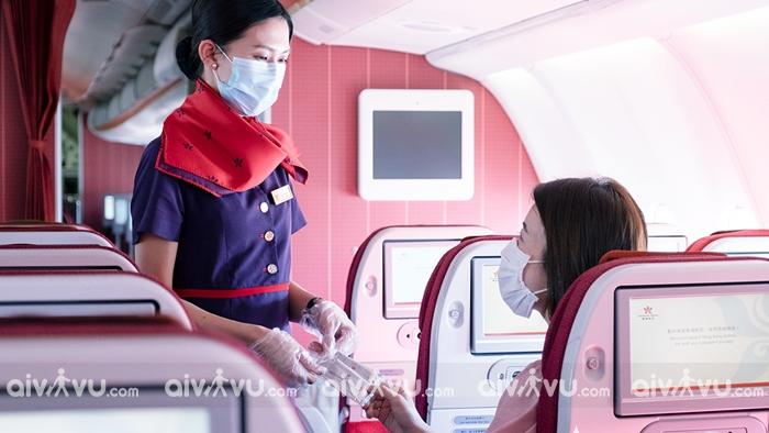 Lên máy bay Hong Kong Airlines