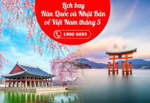 Lịch bay Hàn Quốc và Nhật Bản về Việt Nam tháng 5