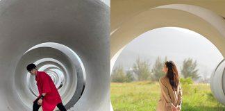 Trào lưu check in trong ống cống độc lạ của giới trẻ Đà Nẵng