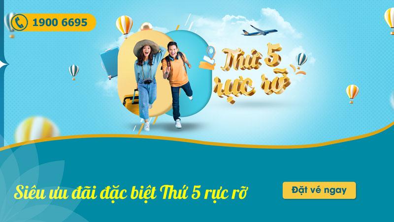 Thứ 5 rực rỡ Vietnam Airlines khuyến mãi chỉ từ 593.000 VND