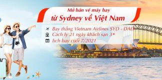Mở bán vé máy bay từ Sydney Úc về Việt Nam cuối tháng 7