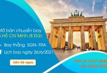 Thông báo Vietnam Airlines mở bán chuyến bay thẳng từ Việt Nam đi Đức