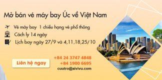 Mở bán vé máy bay từ Úc về Việt Nam