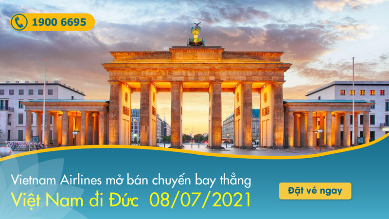 Ngày 8/7 Vietnam Airlines mở bán chuyến bay thẳng từ Việt Nam đi Đức