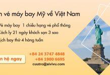 Mở bán vé máy bay từ Mỹ về Việt Nam