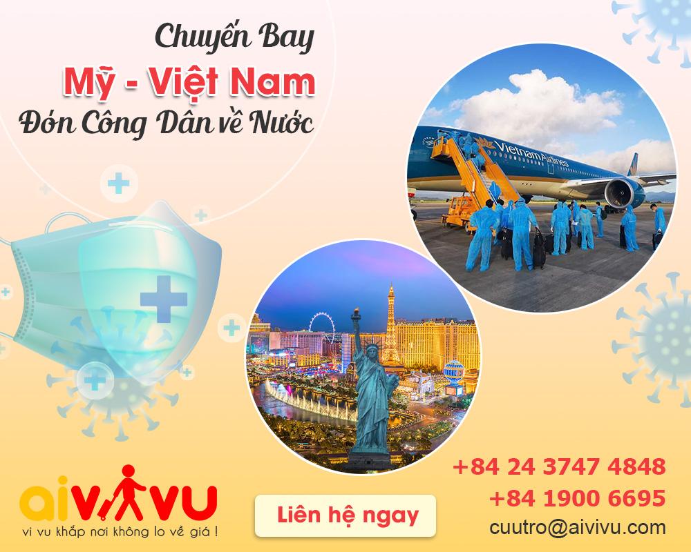 Lịch bay từ Mỹ về Việt Nam cập nhật mới nhất năm 2021
