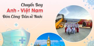 Vé máy bay từ Anh về Việt Nam