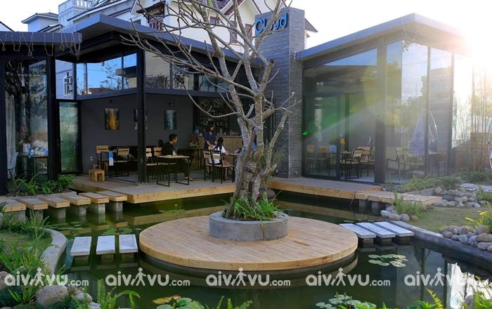 Cloud Garden Cafe bước tranh phong cách châu Âu