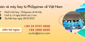Mở bán vé máy bay từ Philippines về Việt Nam