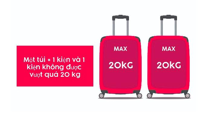 Hành lý Air Asia với chuyến bay đến/đi từ Hoa Kỳ