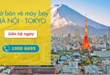 Lịch khai thác chuyến bay Hà Nội đi Tokyo Vietnam Airlines