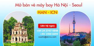 Lịch khai thác chuyến bay Hà Nội – Seoul Vietnam Airlines