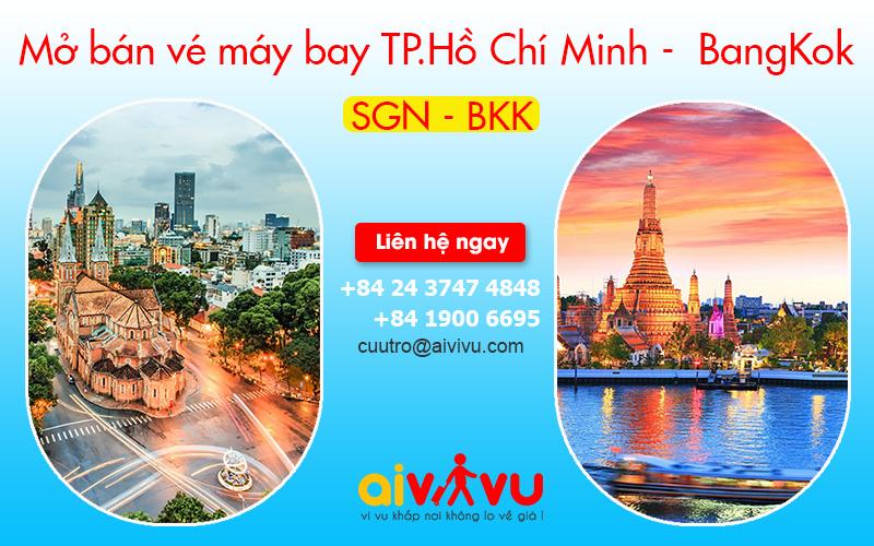 Lịch khai thác chuyến bay Hồ Chí Minh – BangKok Vietnam Airlines