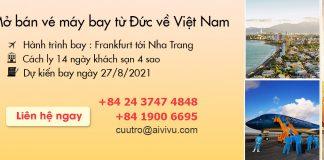 Mở bán chuyến bay charter từ Đức về Việt Nam ngày 27/08