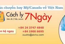 Mở bán vé máy bay từ Mỹ/Canada về Việt Nam cách ly 7 ngày