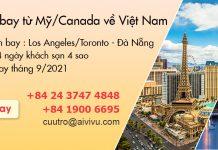 Mở bán vé máy bay từ Mỹ/ Canada/ Úc về Việt Nam