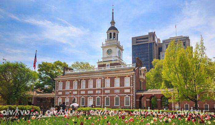 Tòa nhà Độc lập Philadelphia địa danh mang tính biểu tượng của nước Mỹ