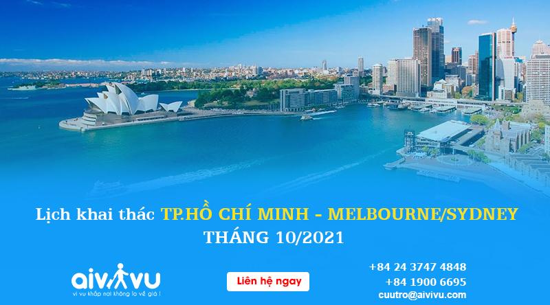 Lịch bay Hà Nội đi Melbourne/ Sydney tháng 10 Vietnam Airlines