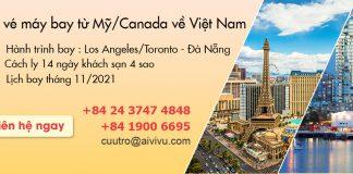 Mở bán vé máy bay từ Mỹ/ Canada về Việt Nam